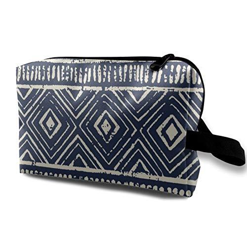 Reise-Kosmetiktasche, Schlammtuch, marineblau, Eierschalenfarben, extra wasserdicht, Make-up-Tasche, Organizer, Aufbewahrungstasche mit Reißverschluss, 12,4 x 16,5 x 25,4 cm