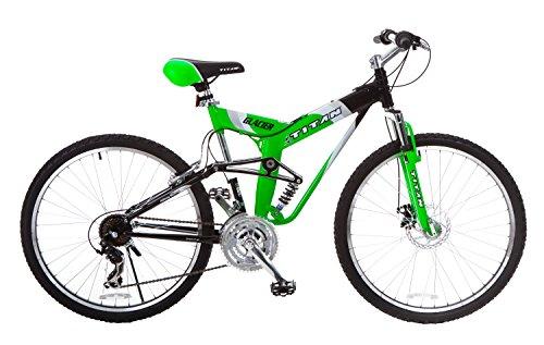 Titan Glacier-Pro Alloy Dual-Suspension All-Terrain Men's Mountain Bicycle, Neon Green, 19' Frame