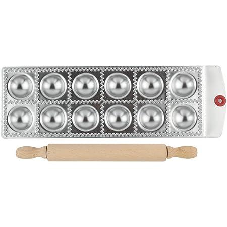 Gnocchi Ravioli Tortelli#1 Dough Wraper Press Forme per Pasta in acciaio inox Multifunzione Utensili per Panzerotti Crostata pasta Biscotti LAEMALLS 24 fori Stampo per Ravioli//Pierogi Pierogi