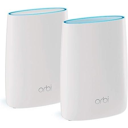 Netgear Orbi RBK50 - Sistema Mesh Wi-Fi TriBanda AC3000, cobertura de hasta 350 m², kit de 2, con 1 router y 1 satélite, Color Blanco