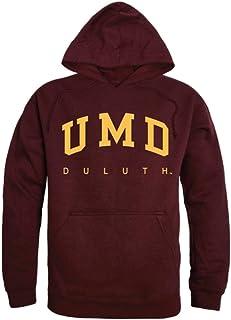 Moletom com capuz universitário WRepublic UMD University of Minnesota Duluth Bulldogs College Castanho
