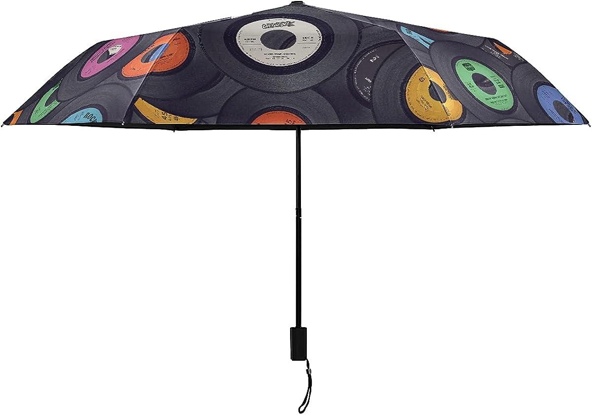 Out Umbrella Vinyl Records half Music Umbrellas For 35% OFF Portable Lig Kids