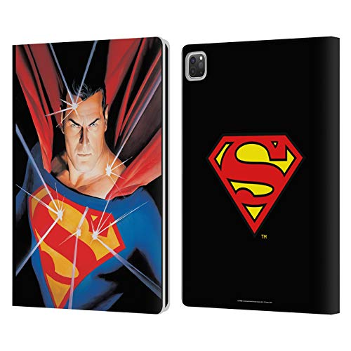 Head Case Designs Officially Licensed Superman DC Comics Alex Ross Mythology Famous Comic Book Covers Leather Book Wallet Case Cover Compatible with Apple iPad Pro 12.9 (2020/2021)