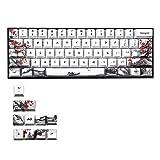 Xuebai 71 Keys Wangjiang Plum Blossom Keycap Dye Sublimation OEM für GH60 GK61 GK64 71 Keys OEM PBT Keycaps