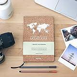 Miss Wood Libreta Especialmente Diseñada para Tu Día, Corcho/Papel, Adventures, 14x2x21 cm