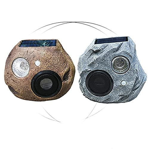 GJX-LB Altavoz al aire libre 2 unids impermeable Bluetooth Altavoces Solar-Powered al aire libre inalámbrico Rock Altavoz recargable Bluetooth Rock Pareja Enlace a Altavoces Inalámbricamente