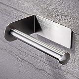 ZUNTO Porta Carta Igienica Adesivo - Portarotolo Carta Igienica Senza Foratura Porta Rotolo Carta Igienica Acciaio Inox per Bagno e Toilette