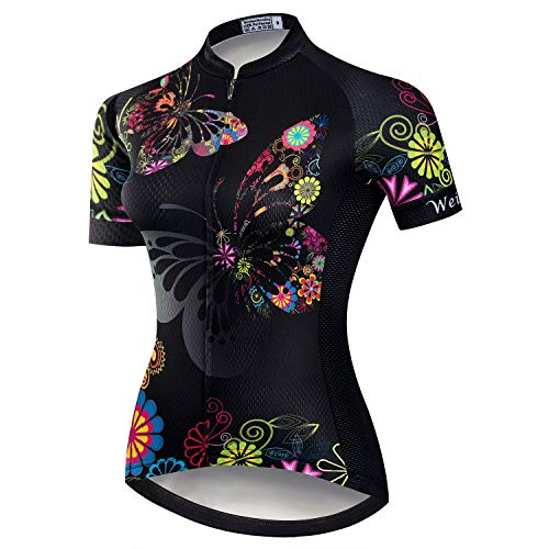 JPOJPO Radtrikot Damen Sommer Radsport Trikot Bekleidung Rennrad Kleidung Shirt Kurzarm Fahrrad Tops S-3XL