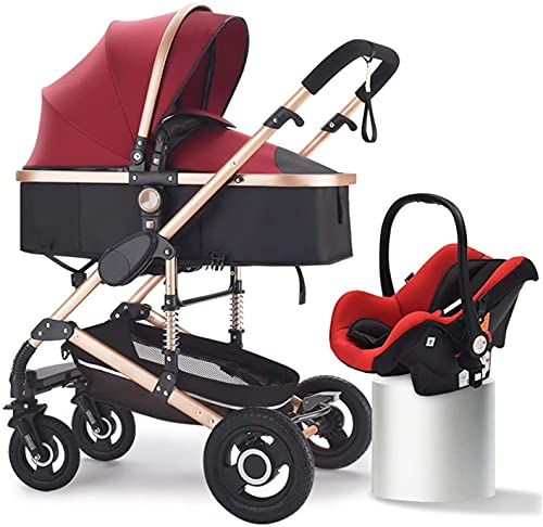 Cochecito de bebé, cochecito urbano ligero desde el nacimiento, carro de bebé 2 en 1, luz plegable y fácil de transportar, sentarse y mentir littlewight cochect, adecuado para camiones recién nacidos