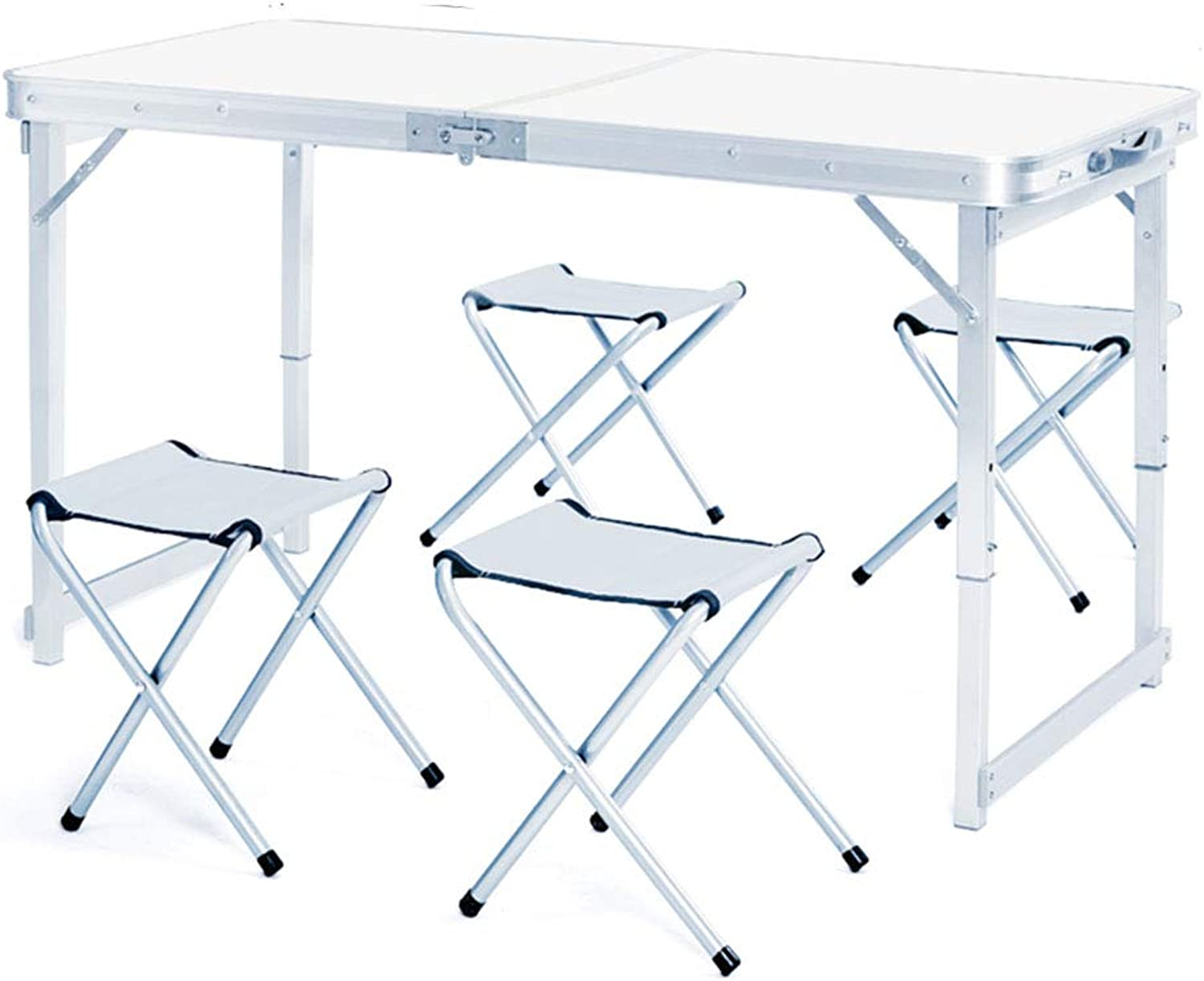 NJLC Picnic Table, Convenient Household Folding Side Table Use Easy Fold Up Table,White,B