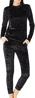 comprar comparacion Mujeres Más Terciopelo del Basculador Loungewear 2 Piezas Jog Conjuntos Chándal