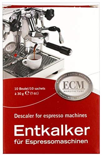 ECM Entkalker Spezieller Entkalker für Espressomachinen Siebträgermaschinen 10 Tüten je 30 g