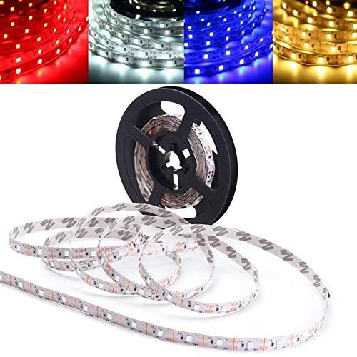 Que cambia de color Barra de luz LED 3M No-impermeable del USB LED de fondo de Gaza partido de la luz de retroiluminación PC TV SMD 2835 CC 5V, decoración (Color : Blue)