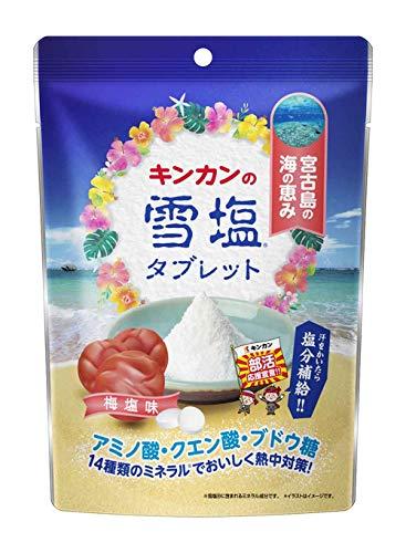 キンカン 雪塩タブレット 梅塩味 90g ×6個