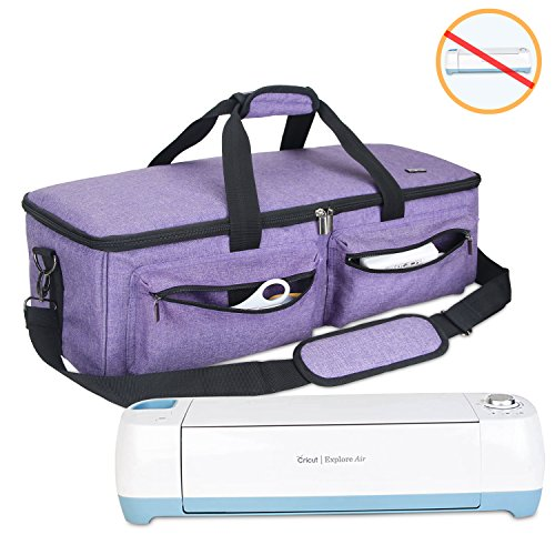 Carrying Bag Compatible with Cricut Explore Air and Maker Purple