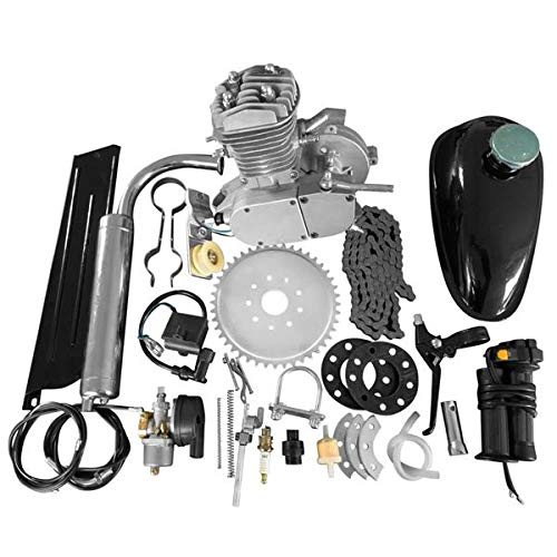 Rends 50cc 2-Stroke High Power Engine Bike Motor Kit Cycle Gas Engine Motor Fit for 26' & 28' Bicycle Scooter Road Bikes,Cruisers, Choppers 50cc (Sliver)