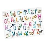 Kinder Lernposter Tier ABC Watercolor - in 3 Größen -
