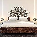 Mandala Bohemia Mandala Decoración de la cama Accesorios Pegatina Cabecera Dormitorio Mural 126x63cm Tatuajes de pared