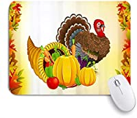 KAPANOU マウスパッド、果物野菜トルコ感謝祭 おしゃれ 耐久性が良い 滑り止めゴム底 ゲーミングなど適用 マウス 用ノートブックコンピュータマウスマット