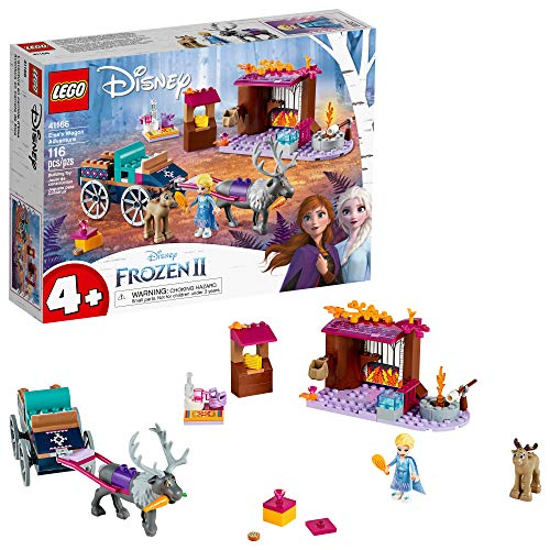 LEGO Disney Frozen II Elsa's Wagon Carriage Adventure 41166 Building Kit with Elsa & Sven Toy Figure, New 2019 (116 Pieces)