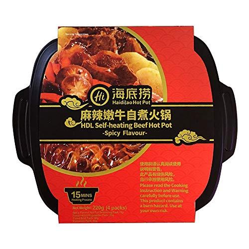 Haidilao Self-Heating Beef Hot Pot Spicy Flavour 380G 麻辣嫩牛自熱火鍋
