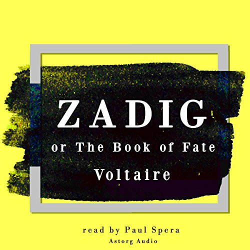 Zadig or the book of fate audiobook cover art