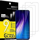 NEW'C 3 Unidades, Protector de Pantalla para Xiaomi Redmi Mi 9 Lite, Redmi Note 8, Antiarañazos, Antihuellas, Sin Burbujas, Dureza 9H, 0.33 mm Ultra Transparente, Vidrio Templado Ultra Resistente