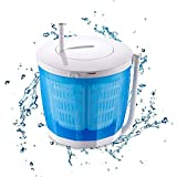 WWJQ Portable Washing Machine, Counter Top Non-Electric Hand Washing Machine and Manual Spin Dryer, Suitable for Dormitory Single Apartment Rv Camping