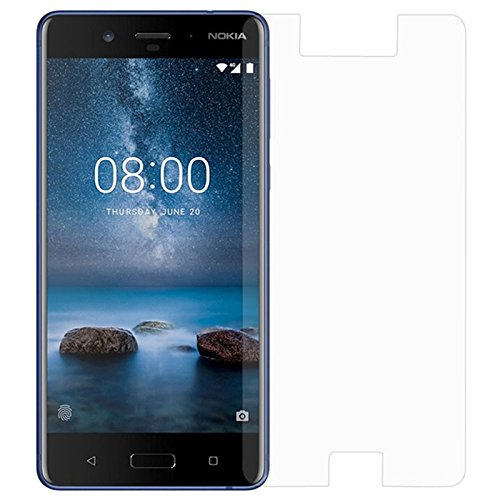 TrendzOn® with Nokia 8 - Ideal Premium Anti Explosion Tempered Glass,9H Hardness Ultra Clear,Anti-Scratch,Bubble Free,Anti-Fingerprints & Oil Stains Coating for Nokia 8 - Clear