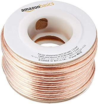 Amazon Basics 16-Gauge Audio Stereo Speaker Wire Cable - 50 Feet