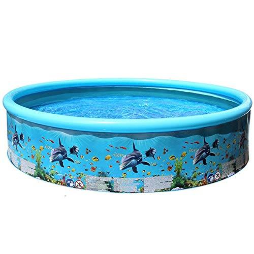 DOOS, piscina para niños, piscina redonda para bebés y niños Piscina de plástico para familias grandes Piscina al aire libre para niños de verano Piscina infantil para niños 1 de junio