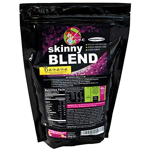 Skinny Blend - Best Tasting Protein Shake for Women - Smoothie Powder - Weight Loss Shakes - Meal Replacement - Low Carb Protein Shake - Diet Supplements - Appetite Suppressant - 30 Shakes (Banana)