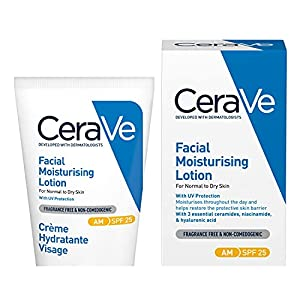 CeraVe AM Facial Moisturising Lotion SPF 25   52ml/1.75oz   Daily Facial Moisturiser with SPF for Normal to Dry Skin from Cerave