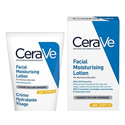 CeraVe AM Facial Moisturising Lotion SPF 25 | 52ml/1.75oz | Daily Facial...