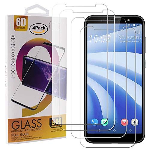 Guran 4 Stück GEH?rtetes Glas Displayschutzfolie für HTC U12 Life Smartphone mit 9H H?RTE Panzerglasfolie Anti-Kratzer HD Klar Schutzfolie Film