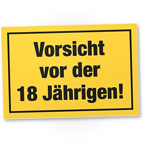 Bedankt! Wees voorzichtig voor de 18 jaar, plastic bord - Cadeau 18e verjaardag vrouwen, cadeau-idee verjaardagscadeau achtjaren, verjaardagsdecoratie, feestaccessoires, verjaardagskaart