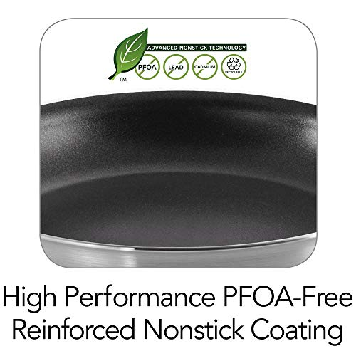 "Tramontina 80114/535DS Professional Aluminum Nonstick Restaurant Fry Pan, 10"", NSF-Certified"