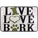 Lindsay Gosse Divertido Dogative Felpudo Antideslizante Cita Lavable para Perros Hueso Corazón Pata Entrada de Bienvenida Baño Alfombrillas Mascotas Gato Estera para Perros Inicio