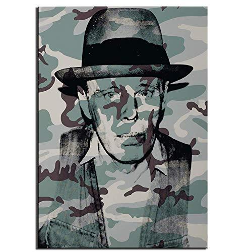 wzgsffs Andy Warhol Joseph beuys in Memoriam große leinwand gemälde wandmalerei Wohnzimmer Schlafzimmer wohnkultur wandkunst Bild-60x90cm kein Rahmen