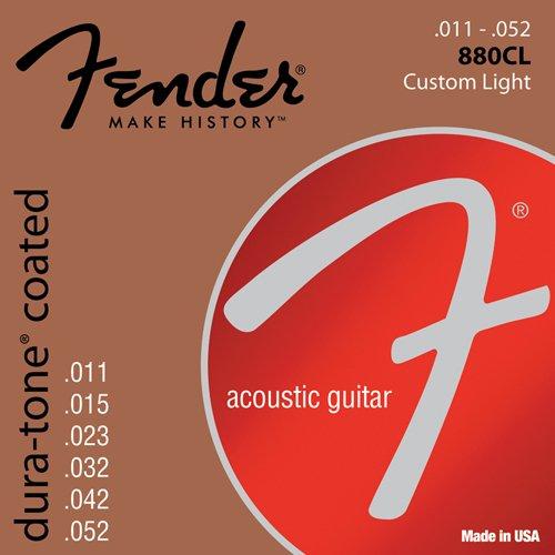 Fender 073-0880-003 Cuerdas de guitarra acústica Dura-Tone 880CL