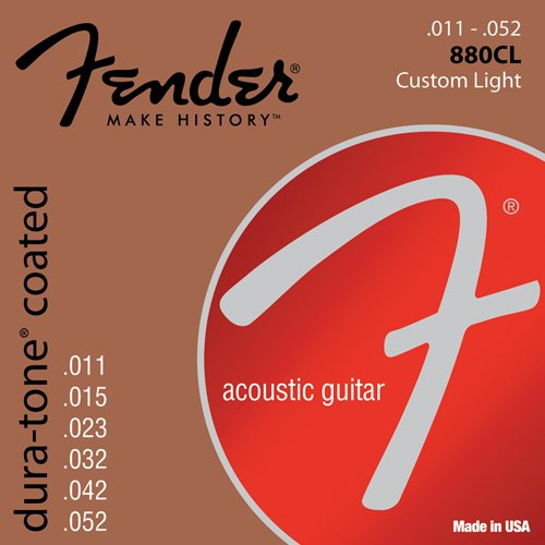 Fender 073-0880-003 Cuerdas de guitarra acústica Dura-Tone 880CL ...
