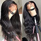 Human Hair Wigs 360 Lace Frontal Wig 24inch 360 Lace Front Human Hair Wig with Pre Plucked Baby Hair Body Wave Lace Wigs Human Hair 150% Density