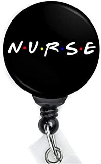 Nurse and Friends Retractable Badge Reel with Swing Clip and 36 inch Cord
