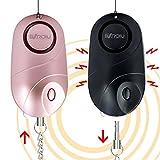 BXROIU 2 alarmes de poche, alarme personnelle de sécurité d'urgence de 140...