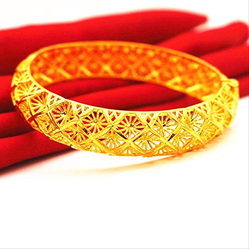 Trendy Ethiopian Bangle Women Gold Filled Dubai Bride Wedding African/Arab/Middle East Bracelet/Bangle Jewelry Diameter 58-60Mm