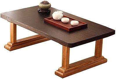 Table Solid Wood Coffee Home Zen Tea Stylish Low Floor-to-Ceiling Bay Window Tatami Tea (Color : Walnut, Size : 60 * 40 * 30cm)