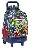 Safta Mochila Escolar con Carro Incluido y Espalda Acolchada de Avengers Heroes Vs Thanos, 330x220x450mm, azul marino/multicolor