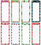 8 Magnetic Notepads - Large Notepads for Grocery List, Shopping List, To-Do List, Reminders, Recipes -Magnetic...