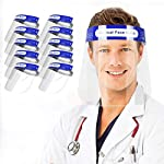 Pantalla Protector facial (Pack 10) Visera transparente ajustable ligero visión clara antivaho Caret... #2