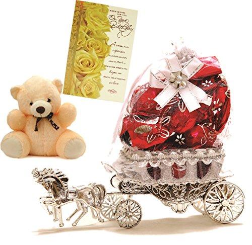 Skylofts Beautiful Horse Chocolate Gift with a Cute Soft Teddy & Musical Birthday Card